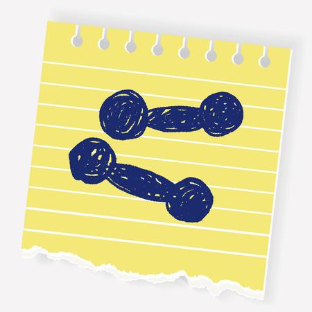 Dumbbell doodle Illustration