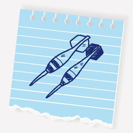 dart doodle Illustration