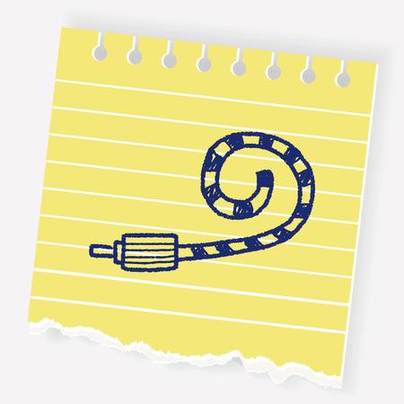 doodle Celebrate horn Illustration