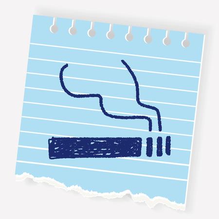 cigarette pack: cigarette doodle