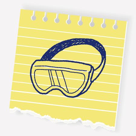 swimming glasses: Doodle Goggles Illustration