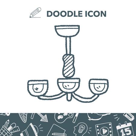 chandelier background: hanging lamp doodle