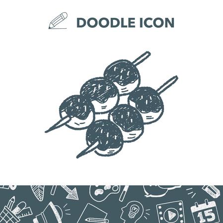 Gehaktballen doodle Stock Illustratie