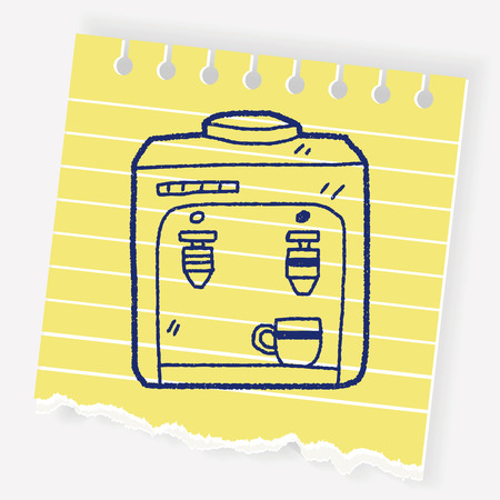 cold room: drink machine doodle