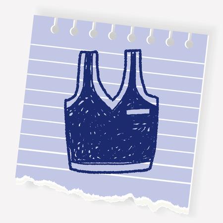 sleeveless top: sport vest doodle