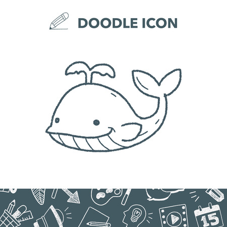 humpback: whale doodle