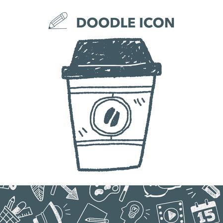 Koffie doodle Stock Illustratie