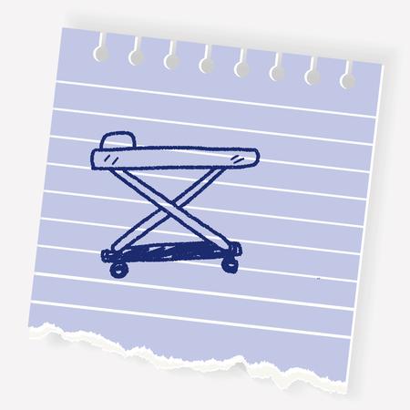 Hospital bed doodle Illustration