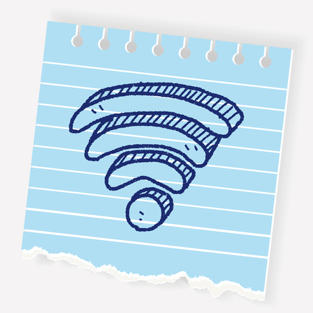 wireless signal: Wifi doodle Illustration