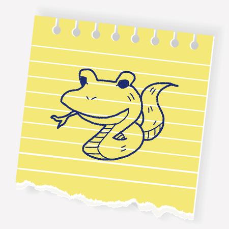 A snake doodle illustration. Çizim
