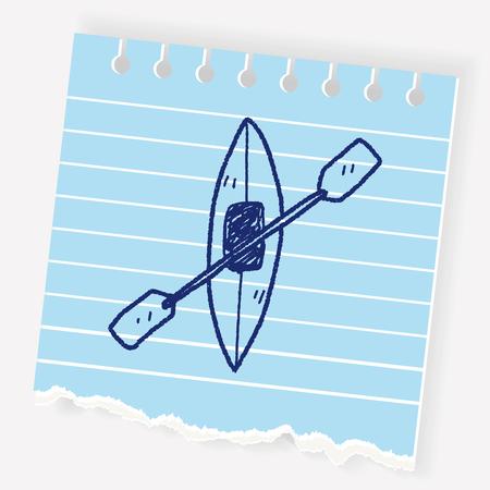 Canoe doodle Illustration