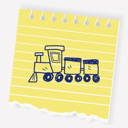 toy train doodle Illustration