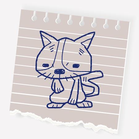 silueta de gato: Dibujo de gato