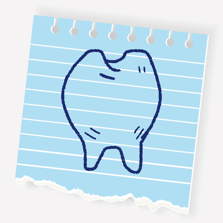 medical drawing: Doodle Tooth Illustration