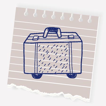 pencil case: Doodle Travel Bags Illustration