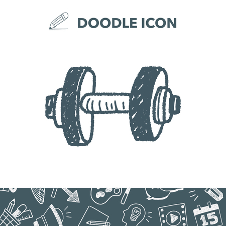 heavy: dumbbell fitness doodle