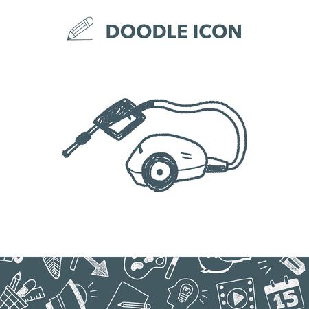washing machine doodle Ilustrace