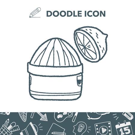 Squeezer doodle Stock Vector - 82438783