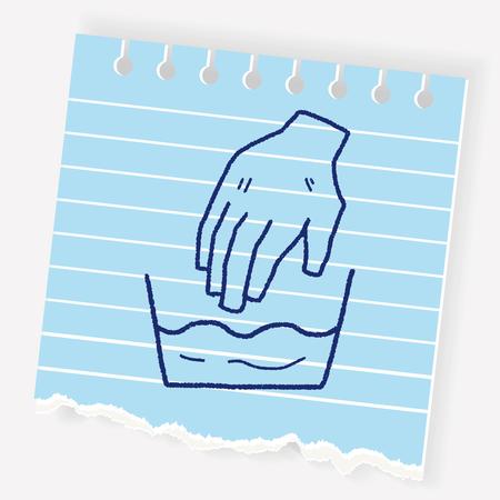 Waschen doodle Standard-Bild - 83304202