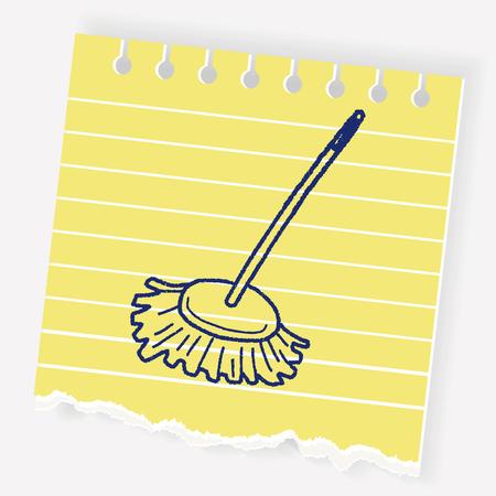 mop doodle Illustration