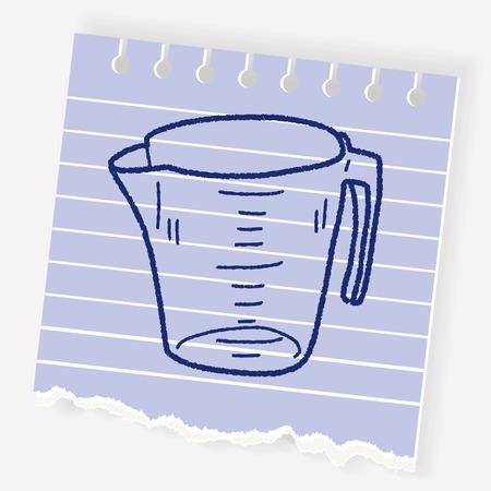measuring cup: measuring cup doodle