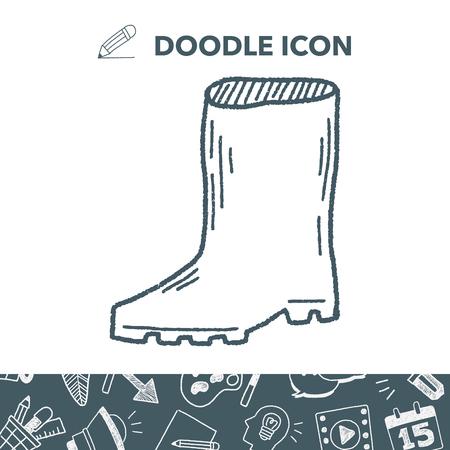 Rain boots doodle.