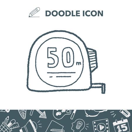 Liniaal doodle. Stock Illustratie