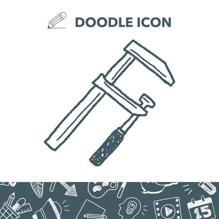 measuring tool doodle Ilustracja