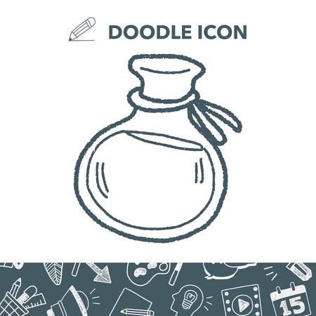 poison bottle: potion doodle