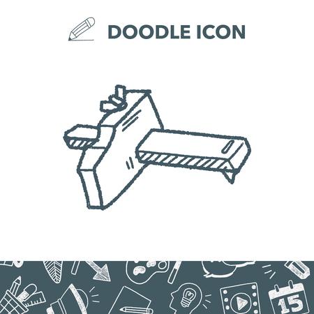Measuring tool doodle. Ilustracja
