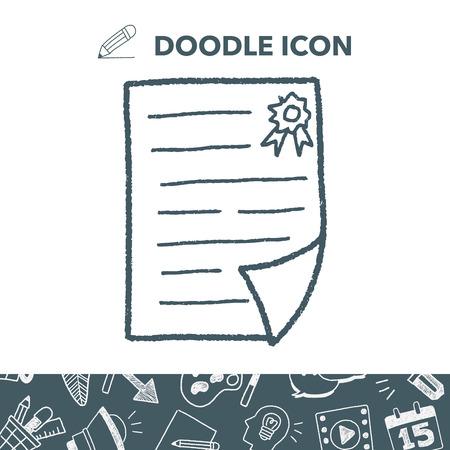 Certificate doodle. Illustration