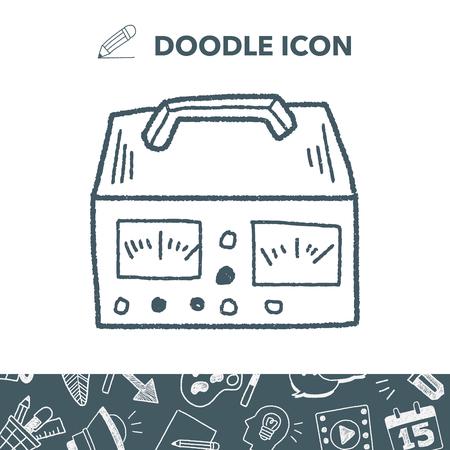 Medidor de electricidad doodle
