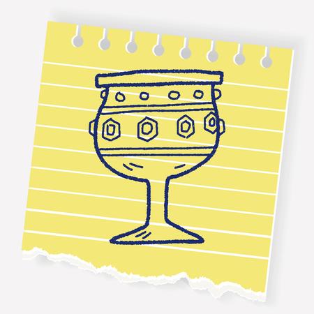 grail holy doodle Illustration