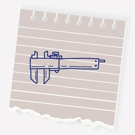measuring tool doodle Illustration