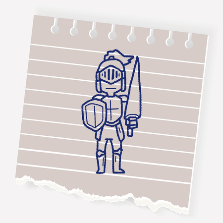 warriors: knight doodle