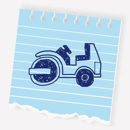 トラックの落書き