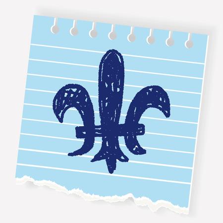 royal crest doodle Illustration