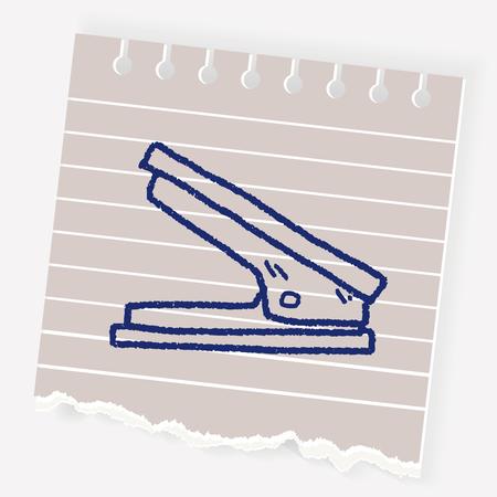 Stapler doodle Stock Vector - 84560219