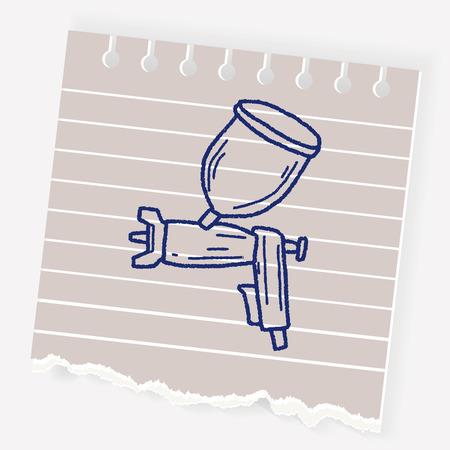Spray gun doodle Stock Vector - 84623848