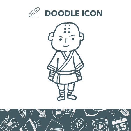 Shaolin doodle Stock Vector - 85247001