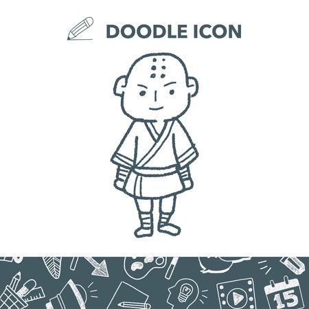 Shaolin doodle Illustration