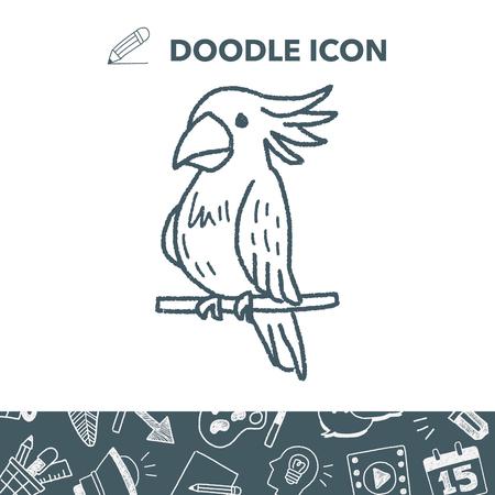 macaw: Parrot doodle