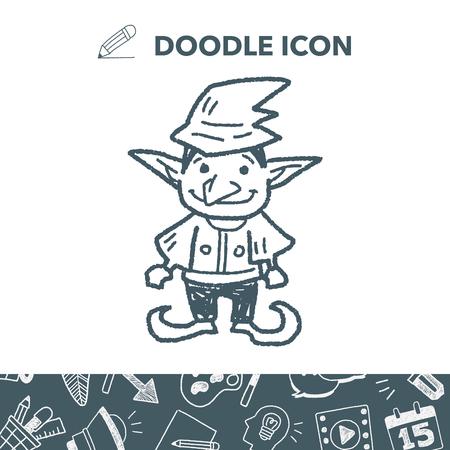 Elf doodle Stock Illustratie