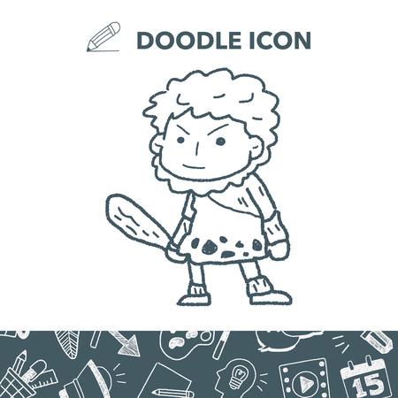 Caveman doodle 向量圖像