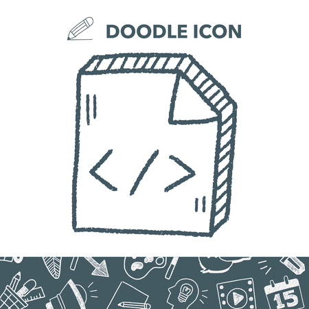 css: doodle code document Illustration