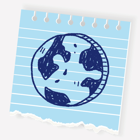 Doodle Globe Illustration