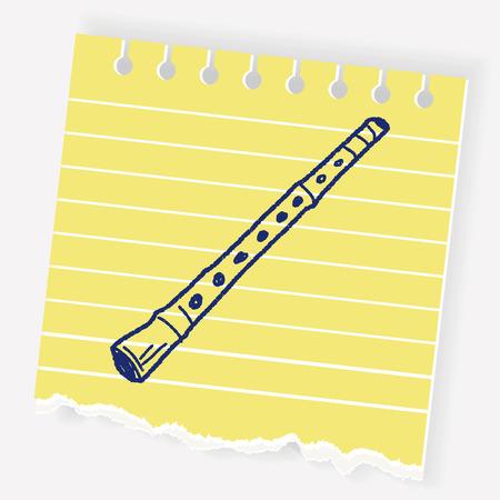 Flute doodle Illustration