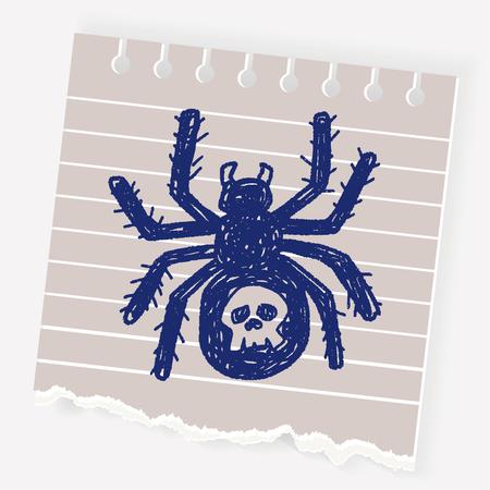 spider web: Spider doodle