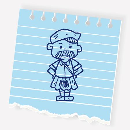 Scottish man doodle