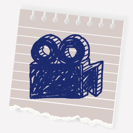 old photo: film camera doodle Illustration